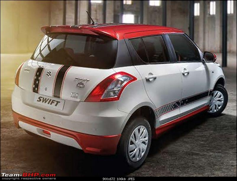 Maruti launches the loud & garish Swift Glory (limited edition)-marutiswiftgloryeditionrear900x672.jpg