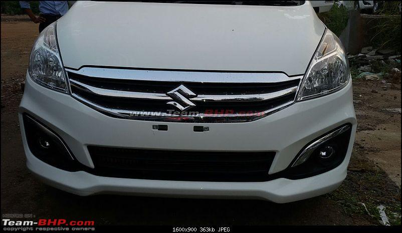 Maruti Ertiga Facelift caught at dealer stockyard-2.jpg