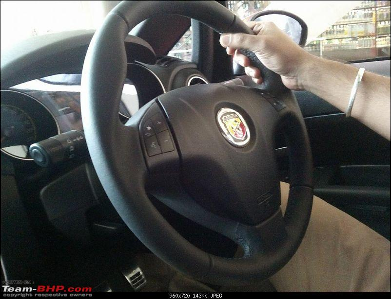 A Close Look: Fiat Punto Abarth. EDIT: Now launched at Rs. 9.95 lakhs!-12107885_10204999390051124_4014158071648664964_n.jpg
