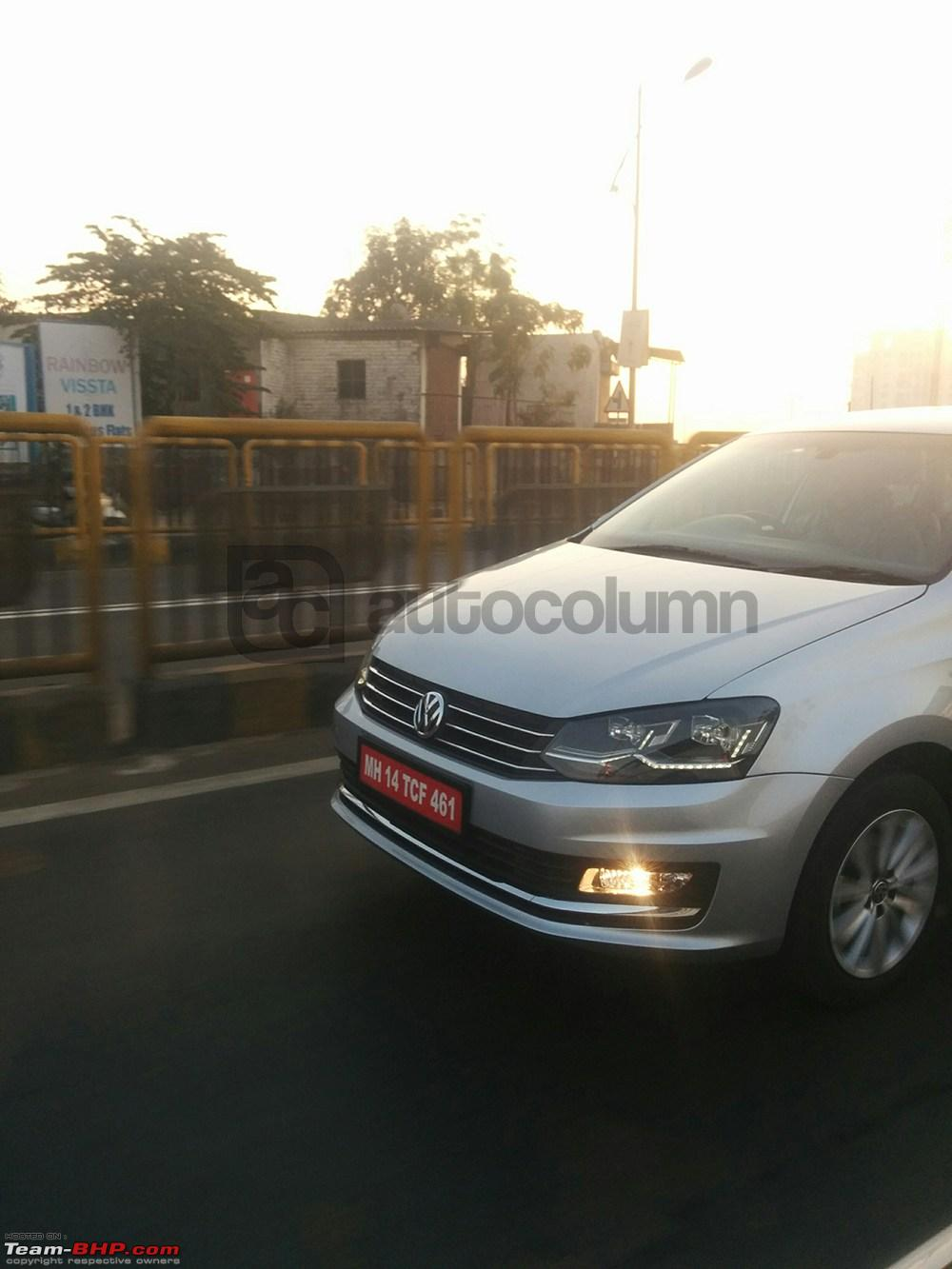 new car launches team bhp2016 Volkswagen Vento Facelift spotted testing EDIT Launched