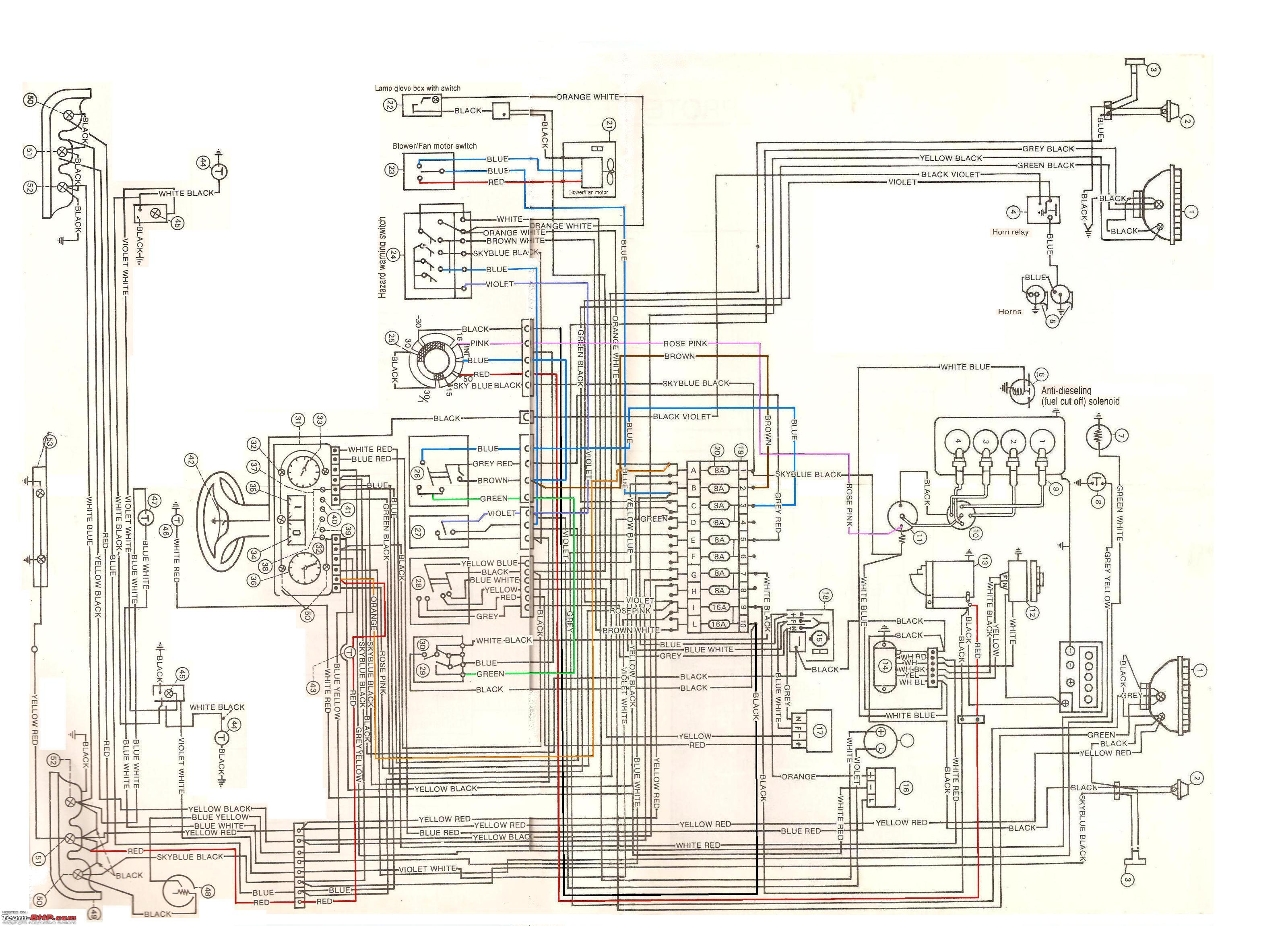 Schematic Car Wiring Diagram Page 118 Electrical Diagrams Zl1000 The Premier Ne Thread 43 Team Bhp Typical Gm Alternator However This