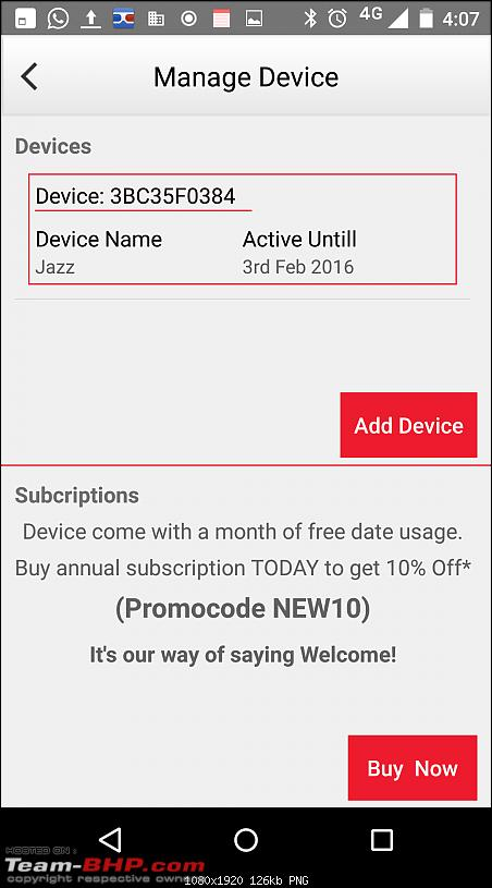Honda India launches mobile app & communication device - Honda Connect-screenshot_20160104160703.png