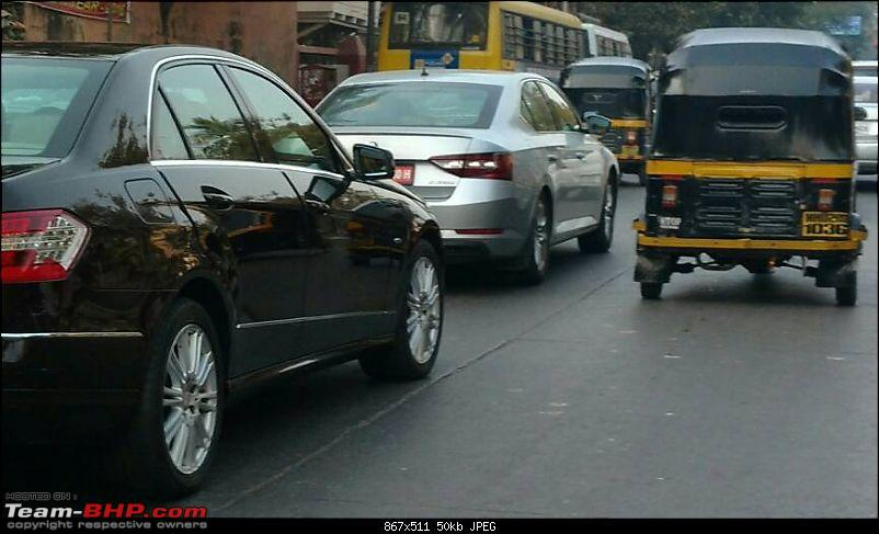 Scoop third gen skoda superb spotted testing in india for Garage skoda sion