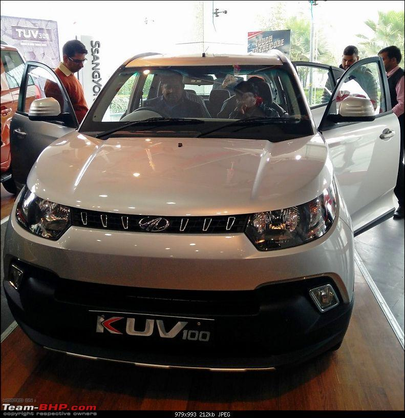 Mahindra unveils KUV100 compact SUV. EDIT: Now launched at Rs. 4.42 lakh (ex-Pune)-img_20160115_134044.jpg