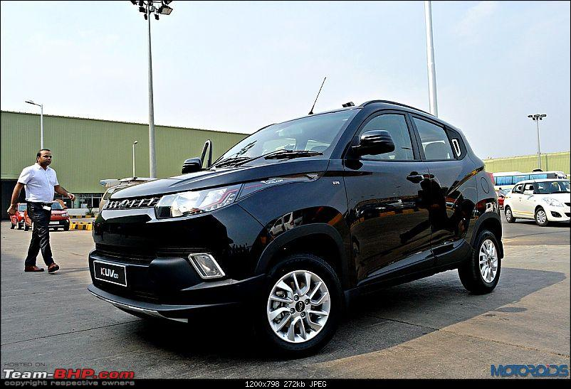 Mahindra unveils KUV100 compact SUV. EDIT: Now launched at Rs. 4.42 lakh (ex-Pune)-mahindrakuv10068.jpg