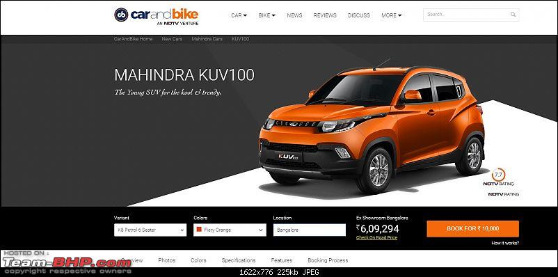 Mahindra unveils KUV100 compact SUV. EDIT: Now launched at Rs. 4.42 lakh (ex-Pune)-kuvndtv.jpg