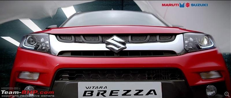 The Maruti Vitara Brezza Compact SUV-marutisuzukivitarabrezzafront.jpg