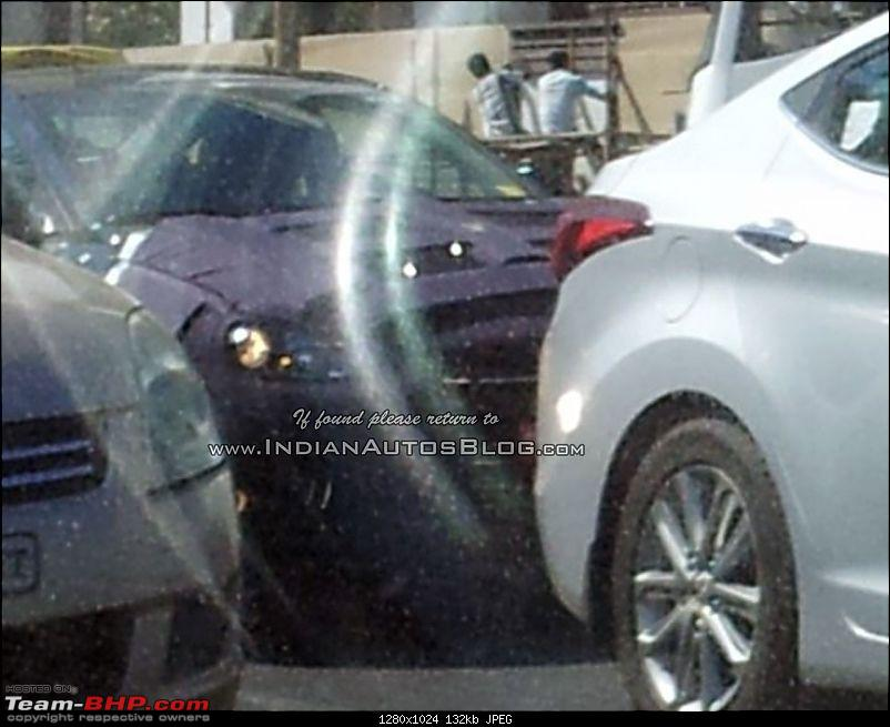 The 6th-gen Hyundai Elantra. EDIT: Launched at 12.99 lakh-2016hyundaielantrafrontsnappedtestinginindiaforfirsttimespied.jpg