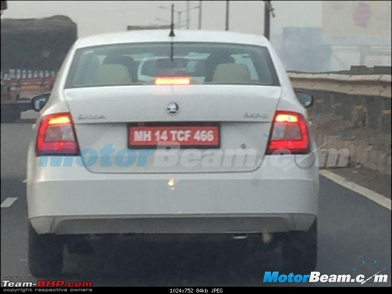 Skoda Rapid facelift caught testing. EDIT: Launched at Rs. 8.35 lakhs-2016skodarapidfaceliftspied.jpg