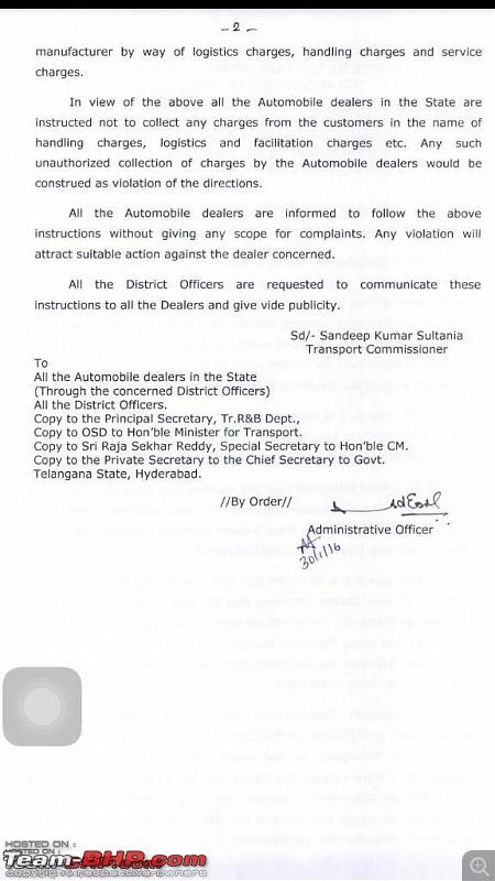 "Delhi Transport Dept tells Dealers to stop ""Handling Charges"" SCAM. EDIT: Telangana and Kerala too-rta2.jpg"