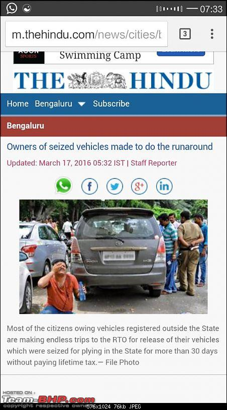 Out-of-state cars can run on Karnataka roads for 1 year!-1458181408293.jpg