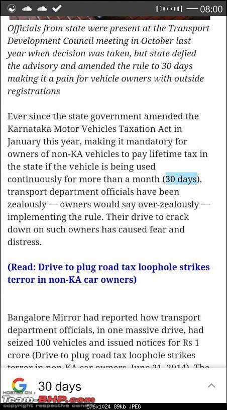 Out-of-state cars can run on Karnataka roads for 1 year!-1458528193183.jpg