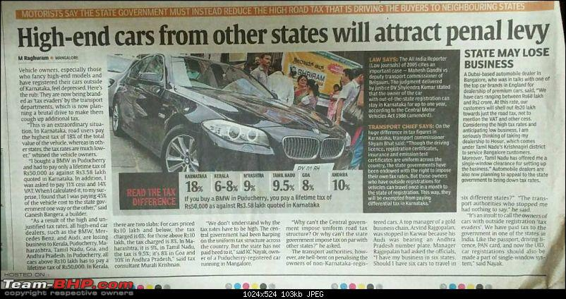 Out-of-state cars can run on Karnataka roads for 1 year!-1458697923976.jpg