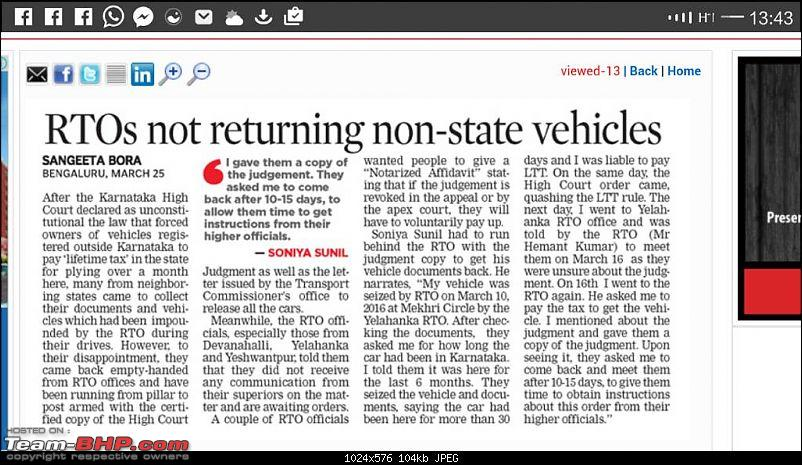 Out-of-state cars can run on Karnataka roads for 1 year!-1459006224025.jpg