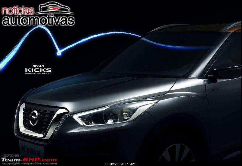 The Nissan Kicks Crossover. EDIT: Launched at Rs. 9.55 lakhs-nissankicksdianteirateaser.jpg