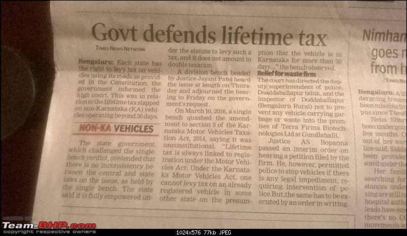 Out-of-state cars can run on Karnataka roads for 1 year!-1461343641499.jpg