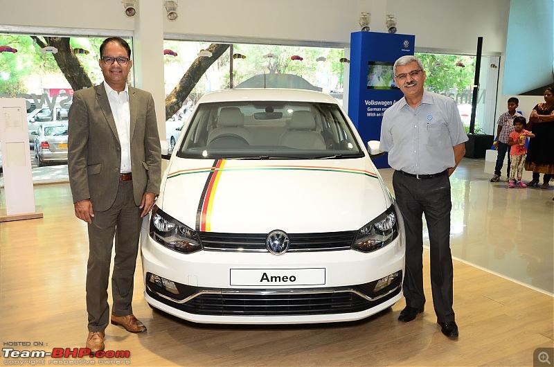 Volkswagen Ameo @ Auto Expo 2016. EDIT: Starts at Rs. 5.14 lakhs!-volkswagenindiaameoroadshow1.jpg