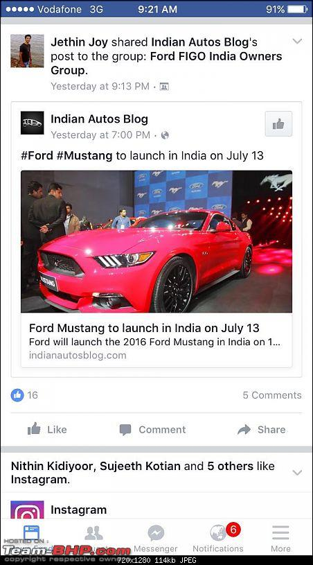 Ford Mustang coming to India. EDIT: Launched at 65 lakhs-img20160702wa0004.jpg