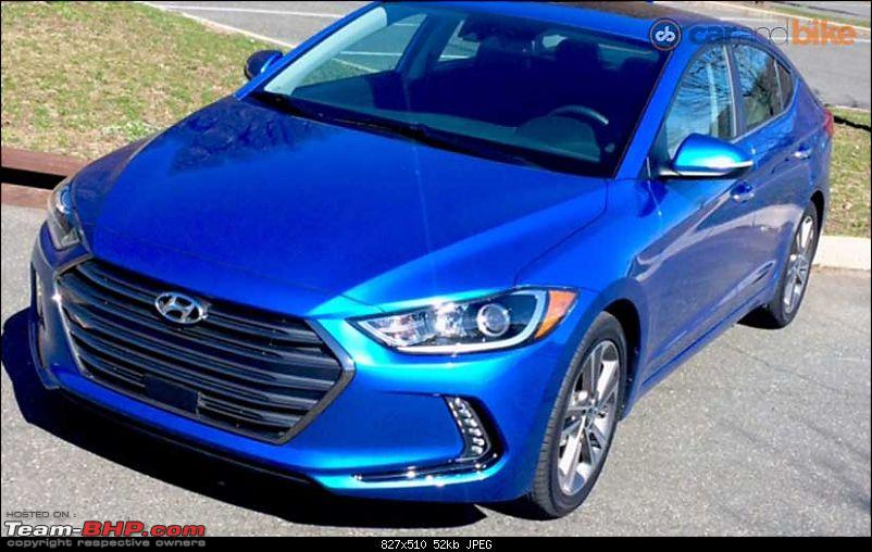 The 6th-gen Hyundai Elantra. EDIT: Launched at 12.99 lakh-2017hyundaielantrafrontprofile_827x510_61460091665.jpg