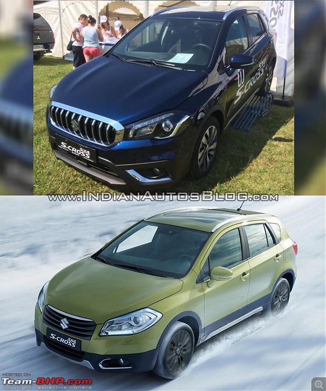 2016 Suzuki S-Cross facelift leaked. EDIT: Revealed in Italy-marutisuzukiscrossfaceliftvsoldermodelfrontthreequarteroldvsnew.jpg