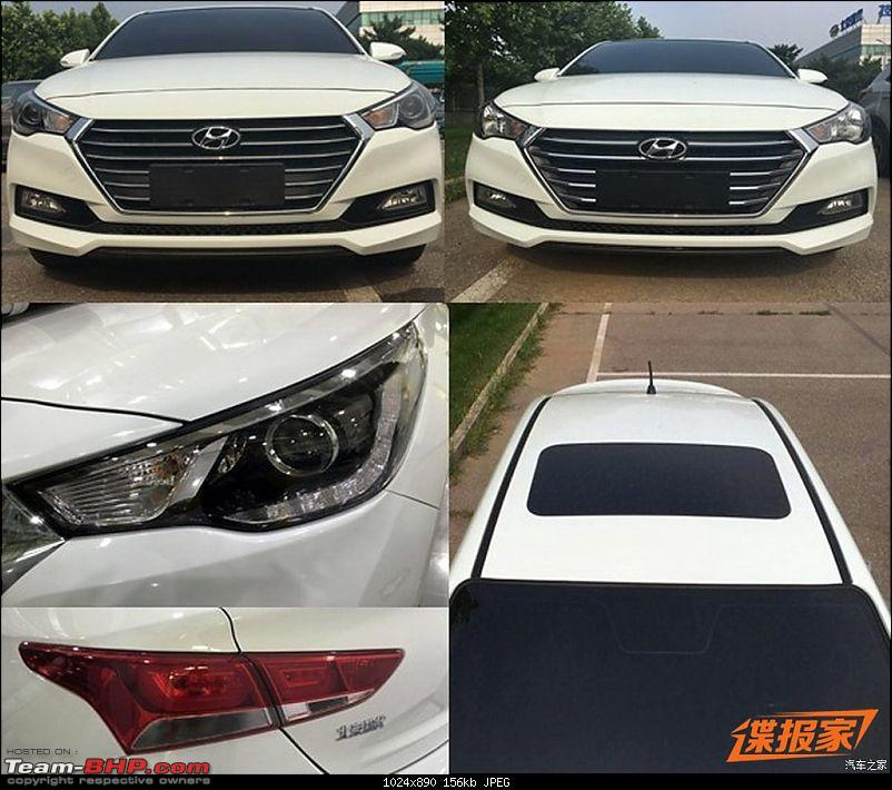 Hyundai India re-imports the next-gen 2017 Verna! EDIT: Unveiled in China-2017hyundaivernaheadlightproductionleaked.jpg