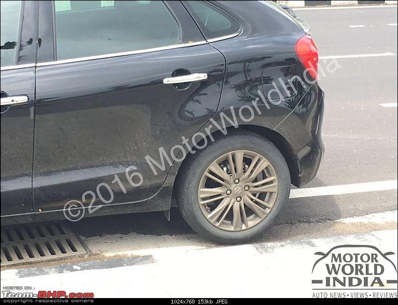 The Maruti Baleno RS: 1.0L turbo-petrol engine. EDIT: Launched at Rs. 8.69 lakh-2016marutibalenorsspyshots4.jpg