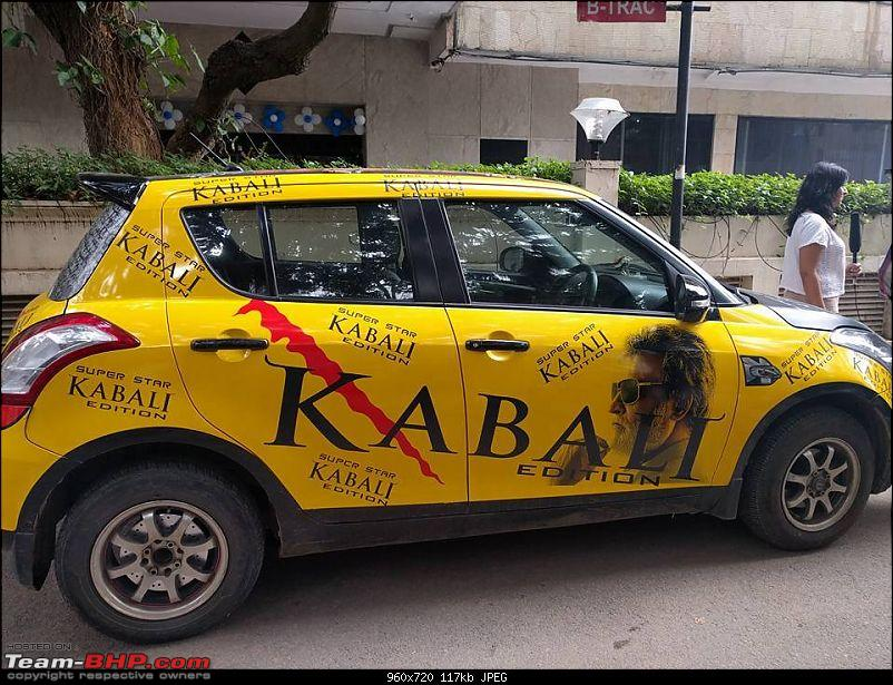Maruti Swift and other cars with 'Kabali' artwork-13692560_564121317046230_9002858083783272761_n.jpg