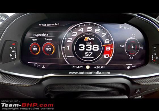 Aditya Patel in an Audi R8 sets top speed record @ 332.2 kph - Team-BHP