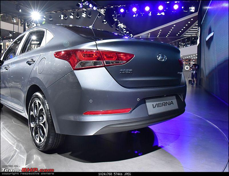 The 2017 Hyundai Verna. Launched at 8 lakhs, ex-showroom Delhi-2017hyundaivernarearthreequartermakesworldpremiere.jpg