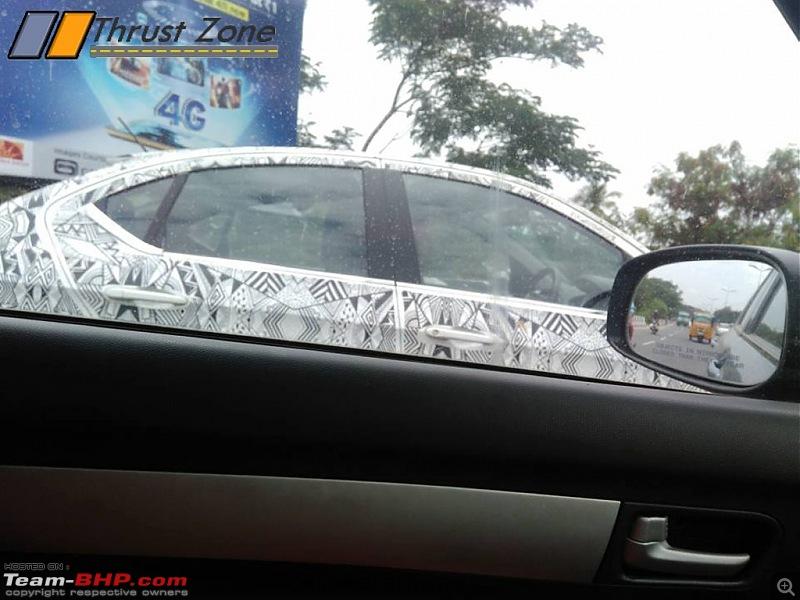 Tata Tiago-based compact sedan. EDIT: Tigor launched at Rs 4.7 lakhs-tatakite5sedanspiedtamilnadu2.jpg