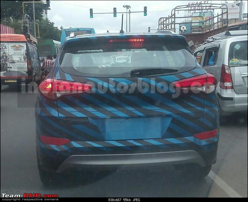 The 2016 Hyundai Tucson. EDIT: Launched-iabreadersnapsthe2016hyundaitucsonreartesting.jpg