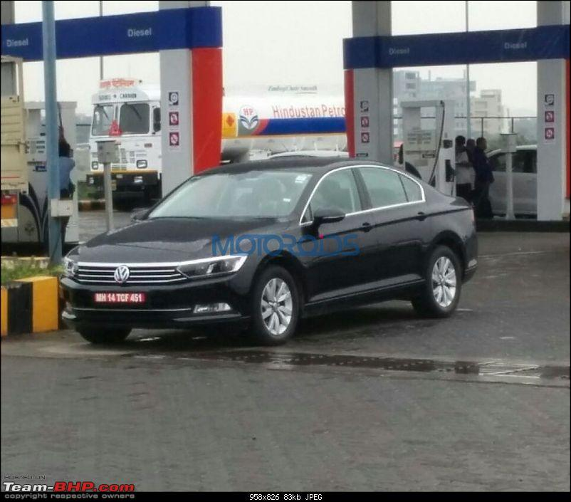 2017 VW Passat 2.0 TDI spotted in India. EDIT: Launched at 30 lakhs-upcomingvolkswagenpassatspied.jpg