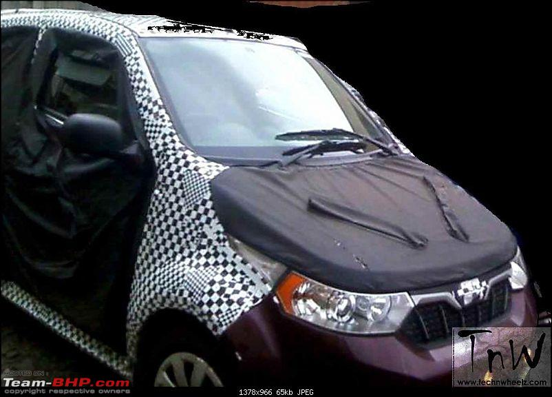Mahindra working on 4-door e2o. UPDATE: Named 'e2oPlus'-mahindrae2o4doorspypics1.jpg