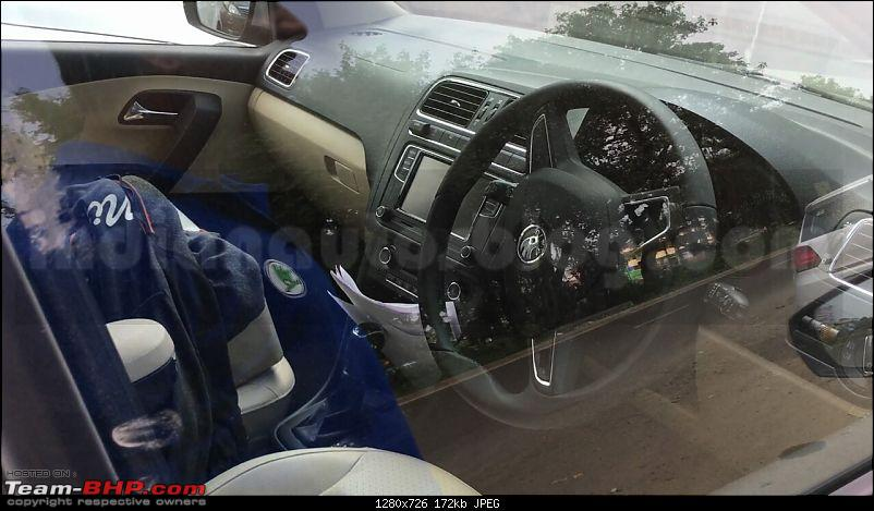Skoda Rapid facelift caught testing. EDIT: Launched at Rs. 8.35 lakhs-skodarapidfaceliftinteriorspied.jpg