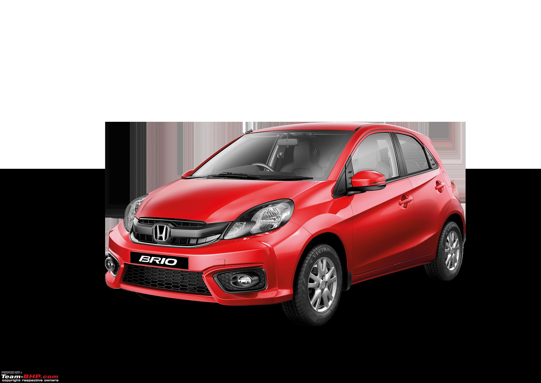 Honda launches the 2016 brio facelift at rs 4 69 lakhs red png