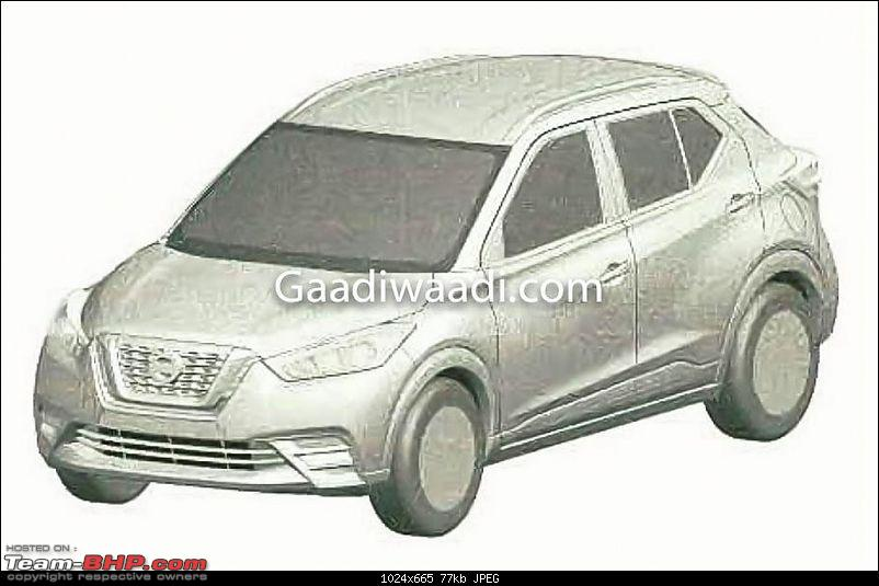 Nissan working on compact SUV to take on Ford EcoSport. Update: Named Kicks-nissankickspatentedinindia.jpg