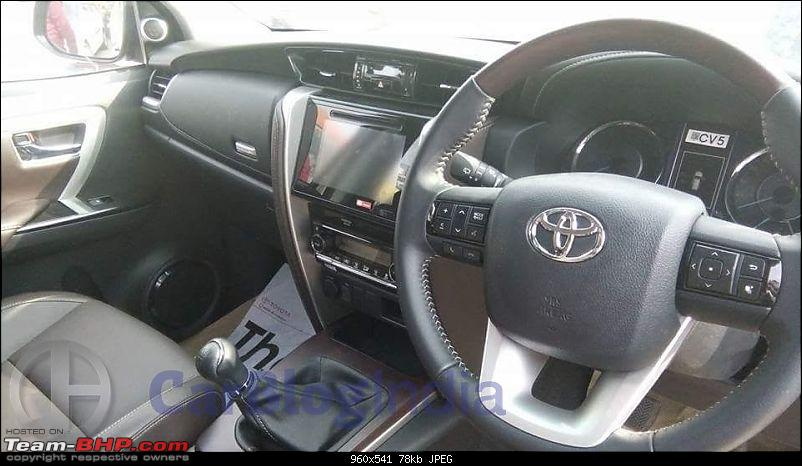 Scoop! Next-gen Toyota Fortuner spotted. EDIT: Preview on page 14-2016toyotafortunerindiaspyshotsinterior.jpg