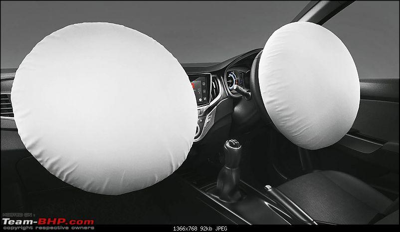 Airbags made mandatory for new cars from October 2017-airbagsmarutibaleno.jpg