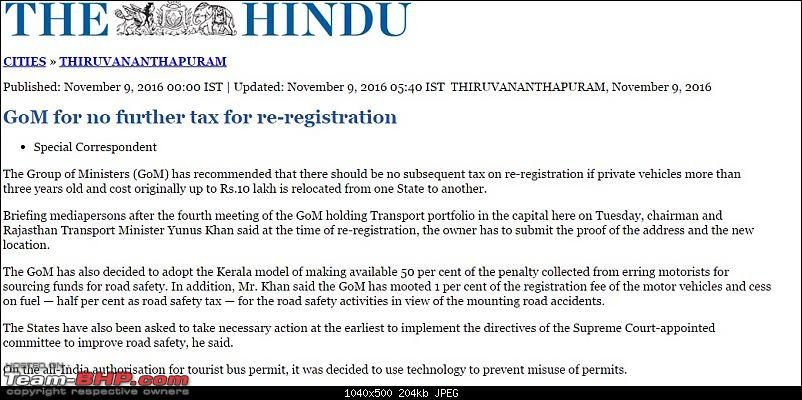 Out-of-state cars can run on Karnataka roads for 1 year!-hindu.jpg