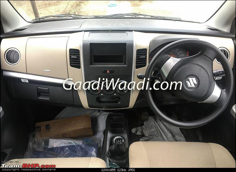 Stingray with WagonR badging and black & beige interiors. EDIT: It's a new top-end VXi+ variant-2017marutisuzukiwagonrlxivxi3.jpg