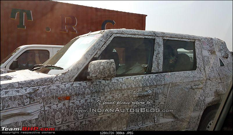 Pics: Longer TUV300 (aka TUV300 Plus?) caught testing-mahindratuv500tuv300xlsidespotted.jpg