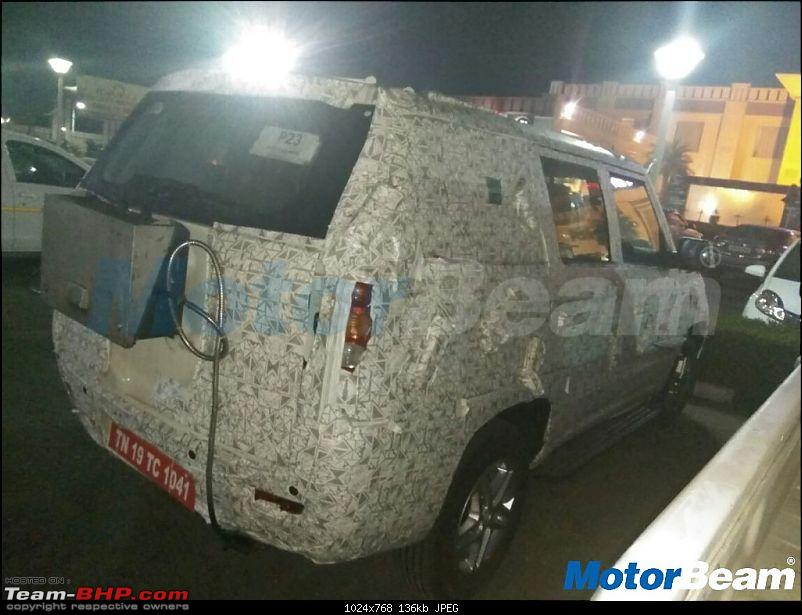 Pics: Longer TUV300 (aka TUV300 Plus?) caught testing-mahindratuvlwb.jpg