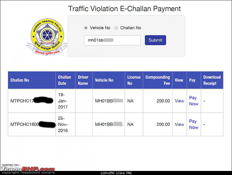 Mumbai Police's eChallans System for Traffic Violations. EDIT: Now Maharashtra-wide-screenshot-20170210173650.png