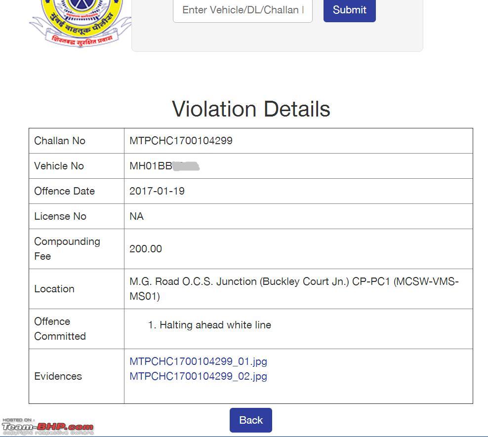 Mumbai Police's eChallans System for Traffic Violations