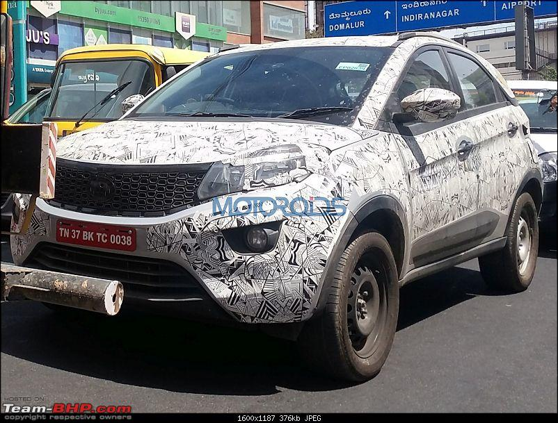 The Tata Nexon, now launched at Rs. 5.85 lakhs-tatanexonspiedtesting1.jpg