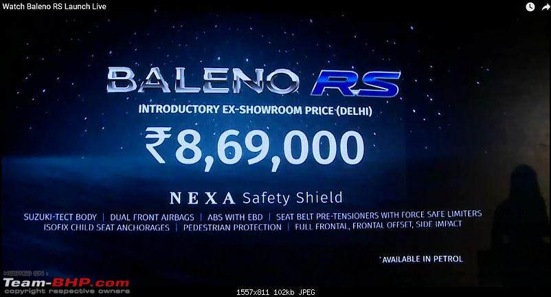 The Maruti Baleno RS: 1.0L turbo-petrol engine. EDIT: Launched at Rs. 8.69 lakh-capture.jpg