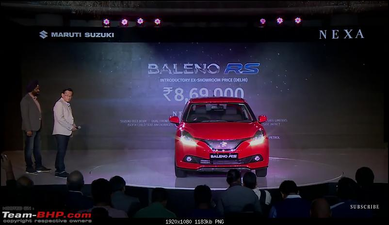 The Maruti Baleno RS: 1.0L turbo-petrol engine. EDIT: Launched at Rs. 8.69 lakh-screenshot_20170303191118588_com.google.android.youtube.png