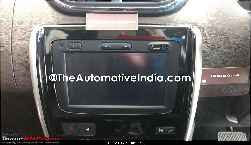 2017 Nissan Terrano facelift's details leaked. EDIT: Launched at Rs 9.99 lakhs-nissanterrano2017headunit.jpg