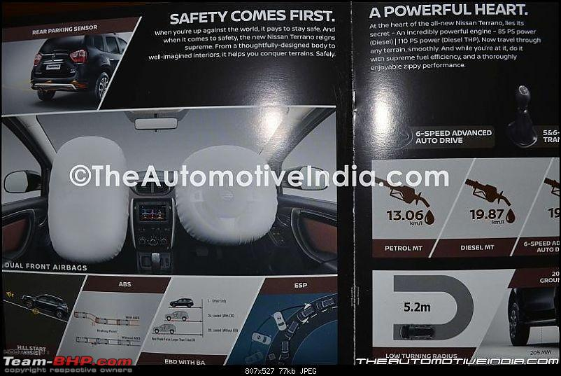 2017 Nissan Terrano facelift's details leaked. EDIT: Launched at Rs 9.99 lakhs-nissanterrano2017brochure08.jpg