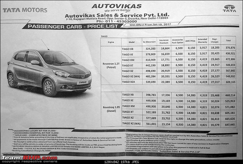 Tata Tiago AMT launched at Rs. 5.39 lakh-tiagopricelist.jpeg
